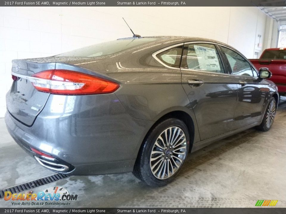 2017 Ford Fusion SE AWD Magnetic / Medium Light Stone Photo #2
