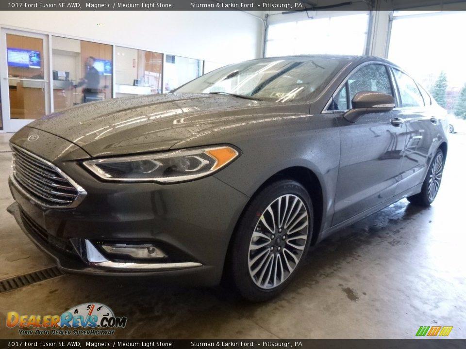 2017 Ford Fusion SE AWD Magnetic / Medium Light Stone Photo #5