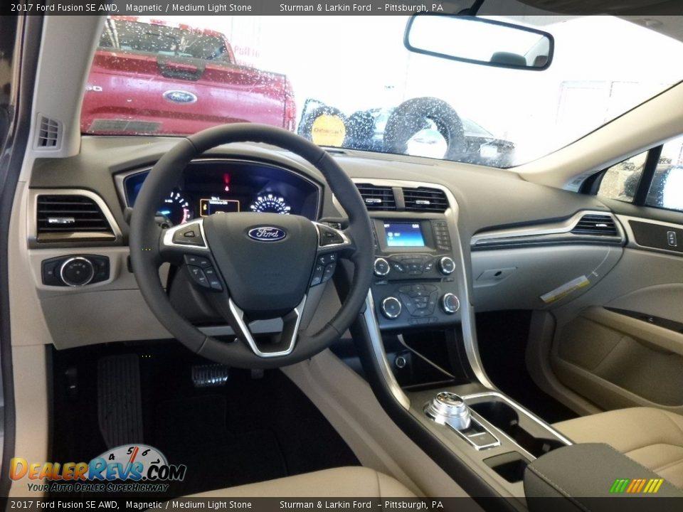 2017 Ford Fusion SE AWD Magnetic / Medium Light Stone Photo #9