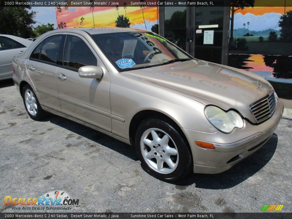 Front 3/4 View of 2003 Mercedes-Benz C 240 Sedan Photo #2