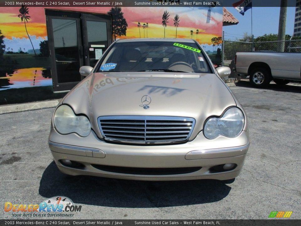 2003 Mercedes-Benz C 240 Sedan Desert Silver Metallic / Java Photo #5