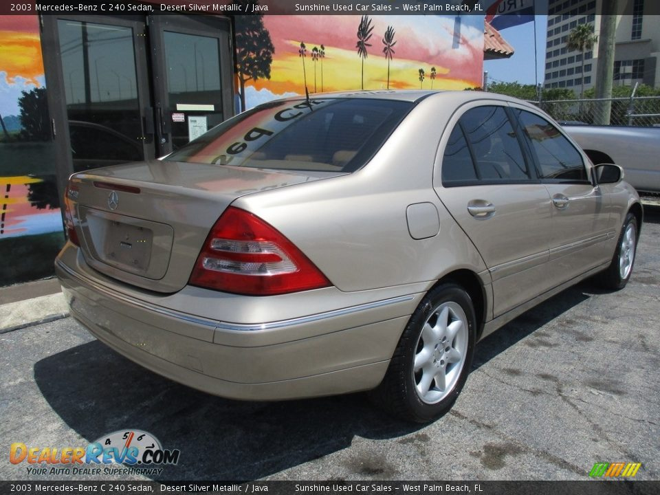 2003 Mercedes-Benz C 240 Sedan Desert Silver Metallic / Java Photo #7