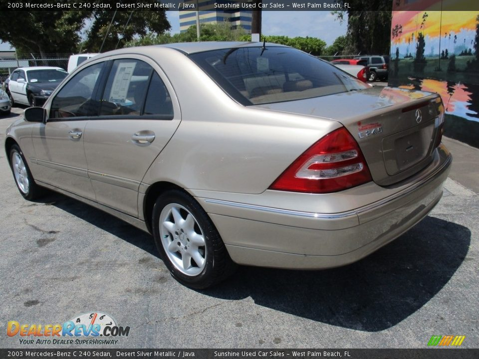 2003 Mercedes-Benz C 240 Sedan Desert Silver Metallic / Java Photo #8