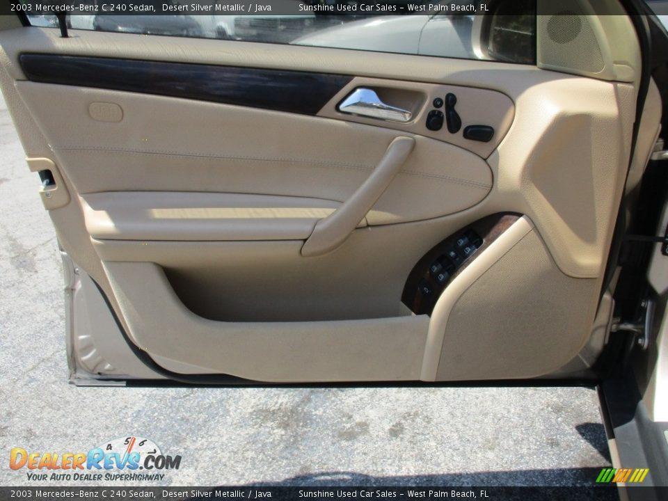 2003 Mercedes-Benz C 240 Sedan Desert Silver Metallic / Java Photo #9