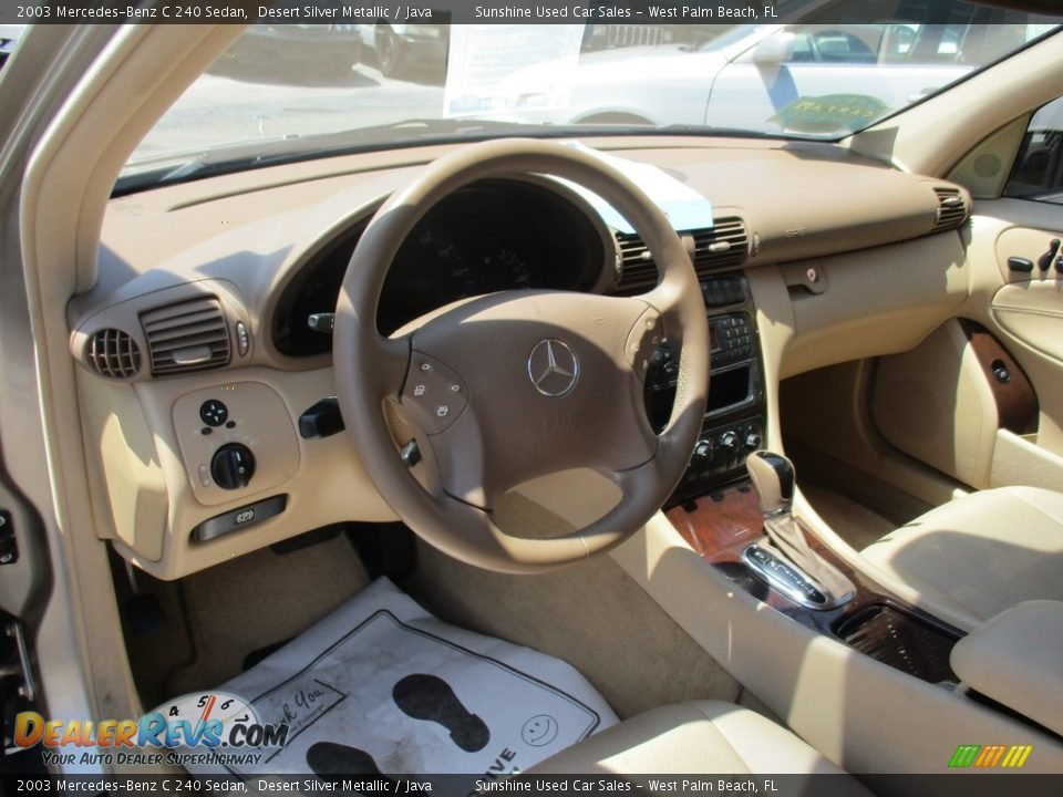 2003 Mercedes-Benz C 240 Sedan Desert Silver Metallic / Java Photo #10