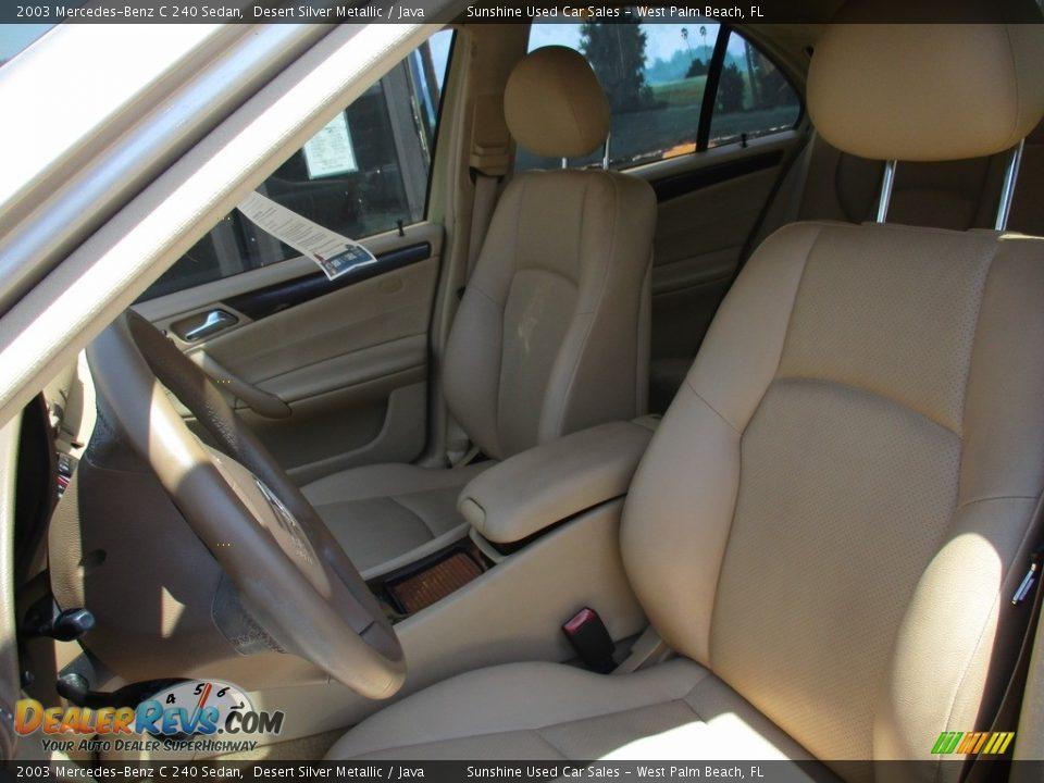 2003 Mercedes-Benz C 240 Sedan Desert Silver Metallic / Java Photo #11