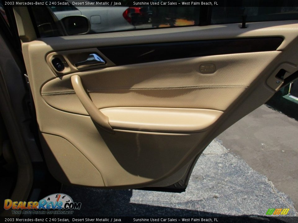 2003 Mercedes-Benz C 240 Sedan Desert Silver Metallic / Java Photo #14