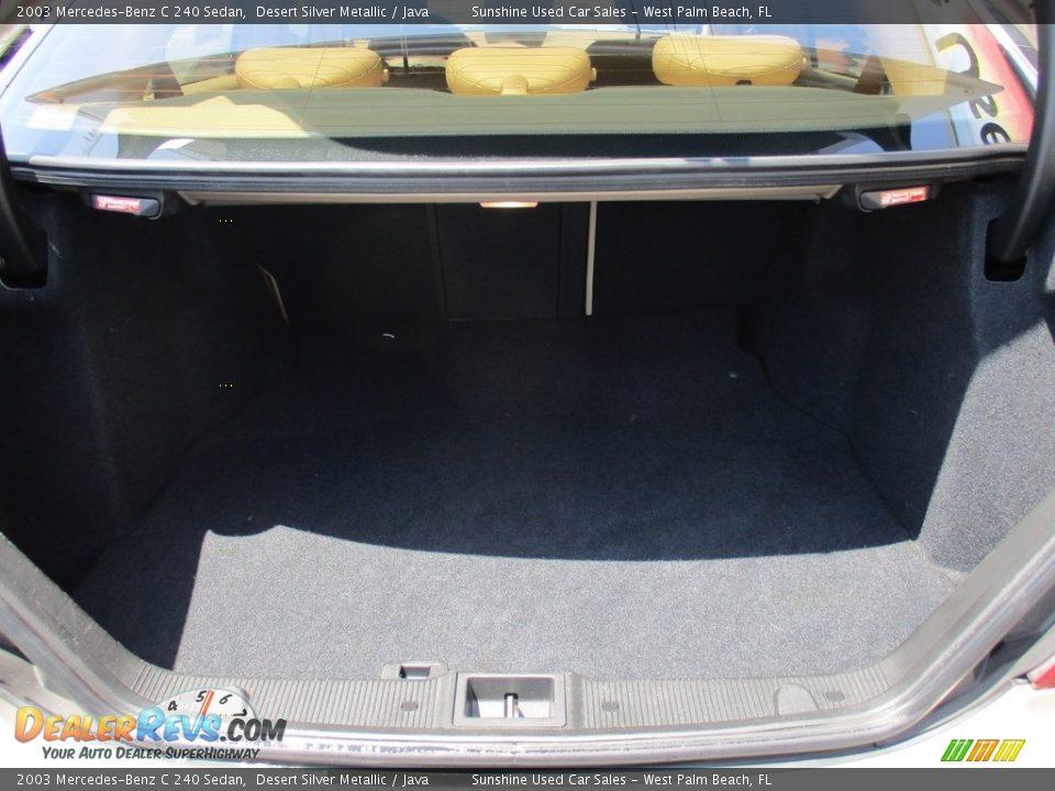 2003 Mercedes-Benz C 240 Sedan Desert Silver Metallic / Java Photo #21