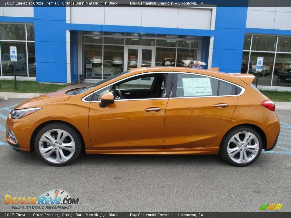 2017 Chevrolet Cruze Premier Orange Burst Metallic / Jet Black Photo #2