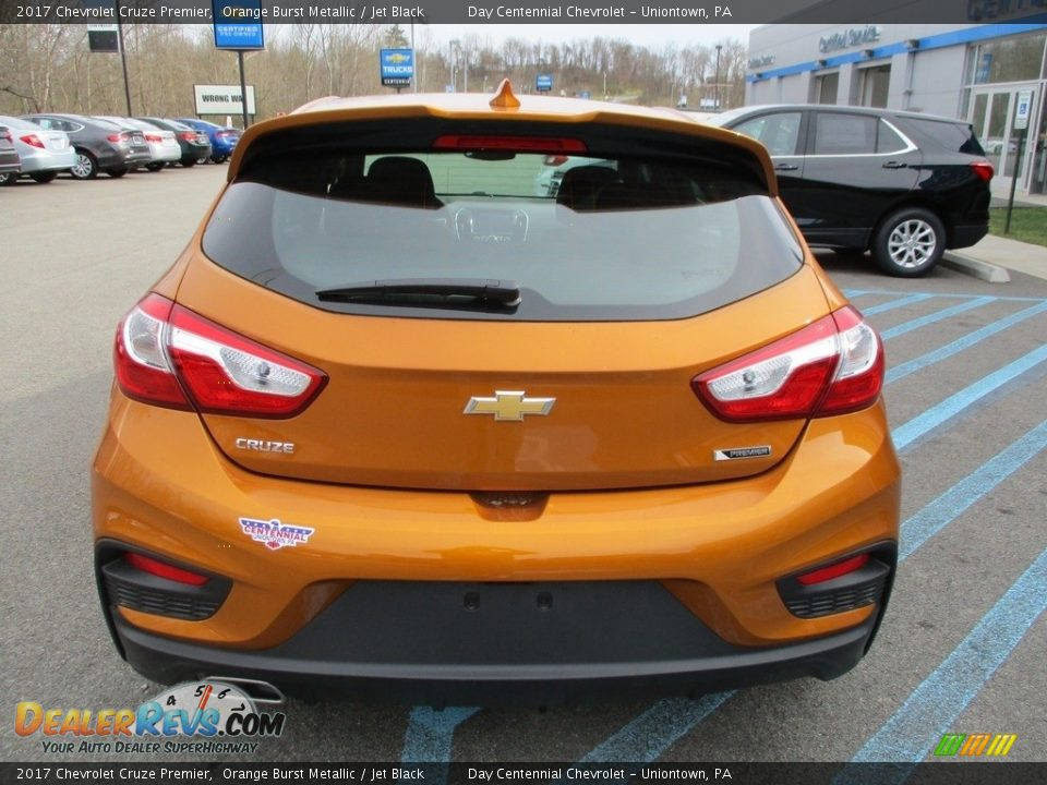 2017 Chevrolet Cruze Premier Orange Burst Metallic / Jet Black Photo #5