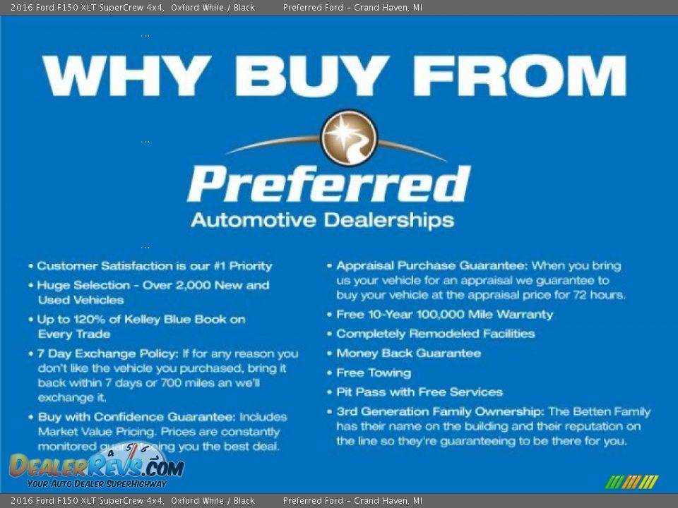 Dealer Info of 2016 Ford F150 XLT SuperCrew 4x4 Photo #3