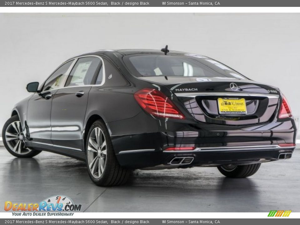 2017 Mercedes-Benz S Mercedes-Maybach S600 Sedan Black / designo Black Photo #3