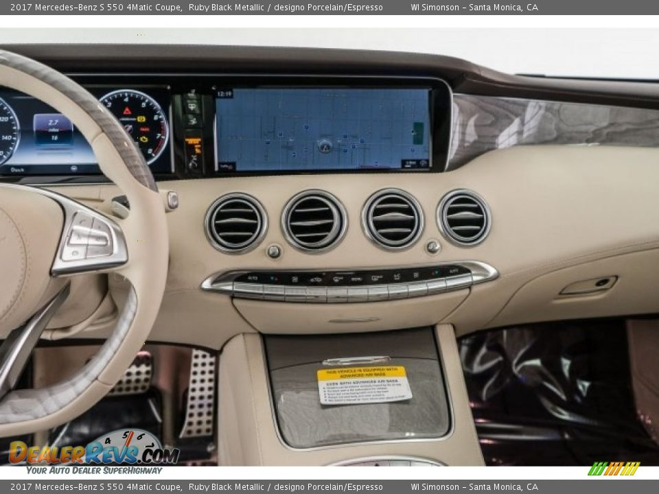 Dashboard of 2017 Mercedes-Benz S 550 4Matic Coupe Photo #8