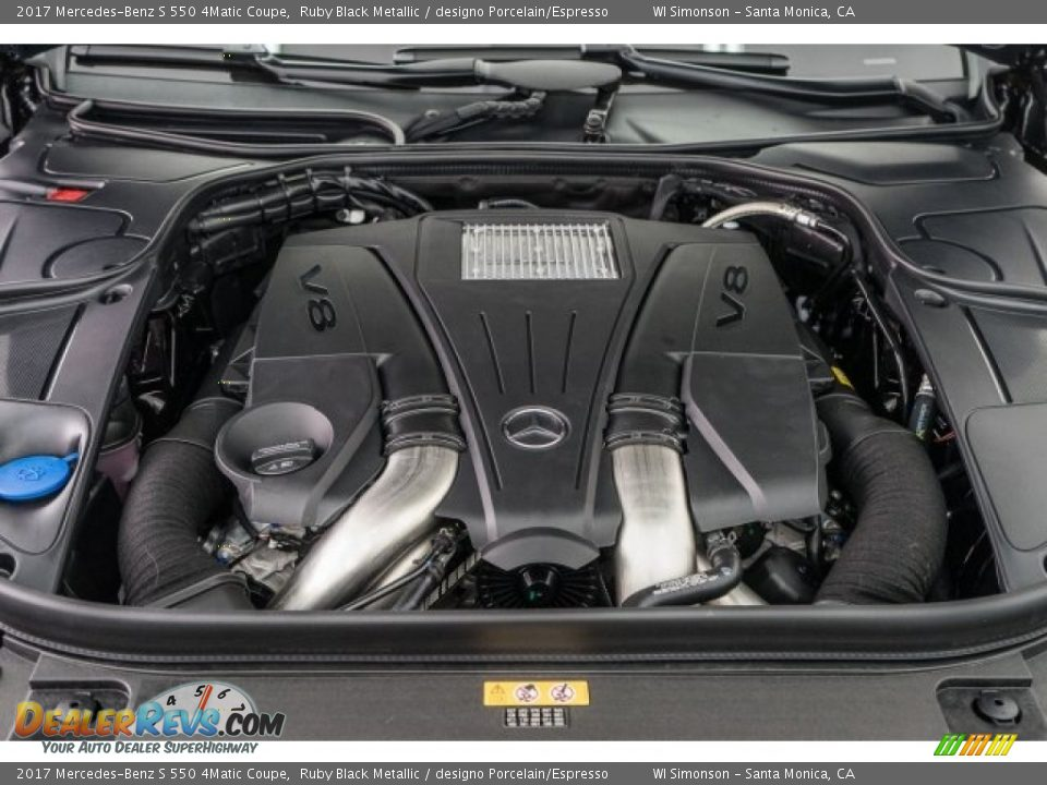 2017 Mercedes-Benz S 550 4Matic Coupe 4.7 Liter DI biturbo DOHC 32-Valve VVT V8 Engine Photo #9