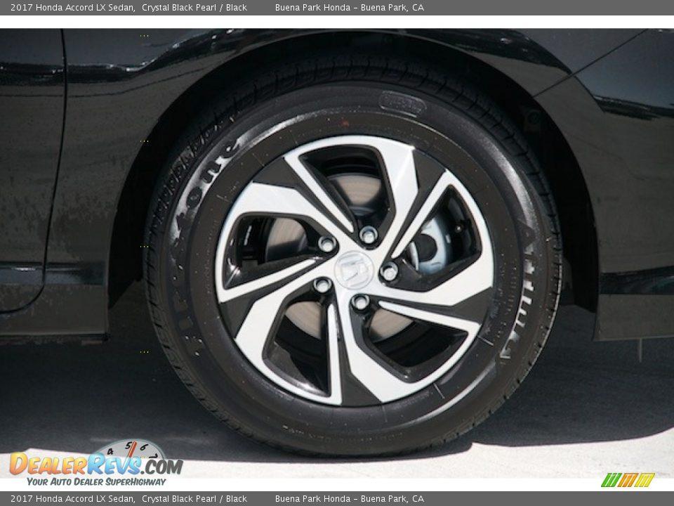 2017 Honda Accord LX Sedan Crystal Black Pearl / Black Photo #6