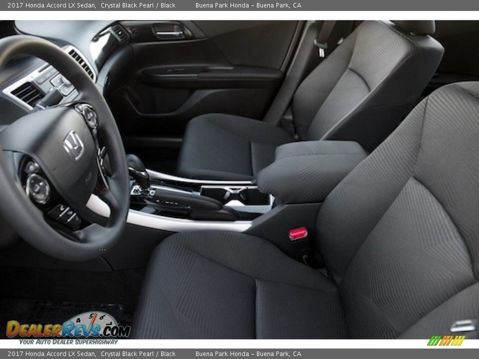 2017 Honda Accord LX Sedan Crystal Black Pearl / Black Photo #8