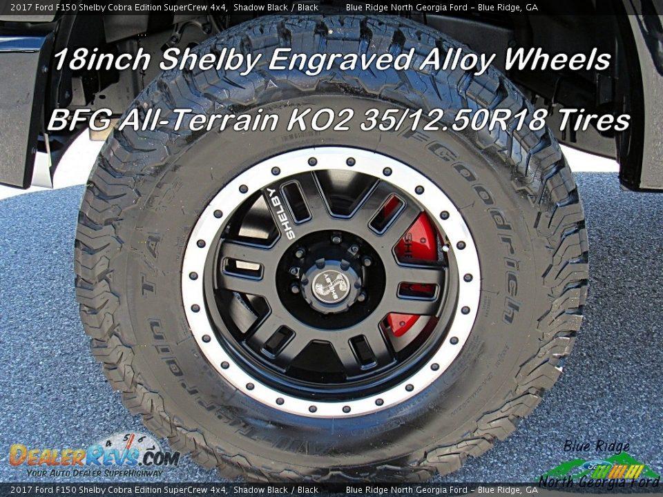 2017 Ford F150 Shelby Cobra Edition SuperCrew 4x4 Shadow Black / Black Photo #27