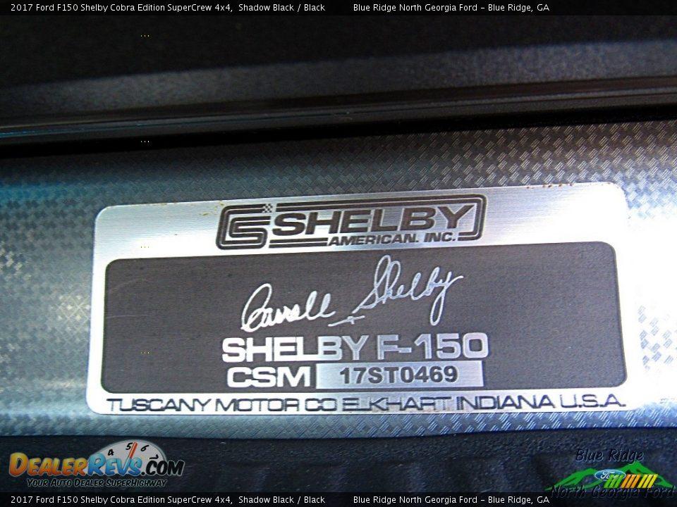 2017 Ford F150 Shelby Cobra Edition SuperCrew 4x4 Shadow Black / Black Photo #32