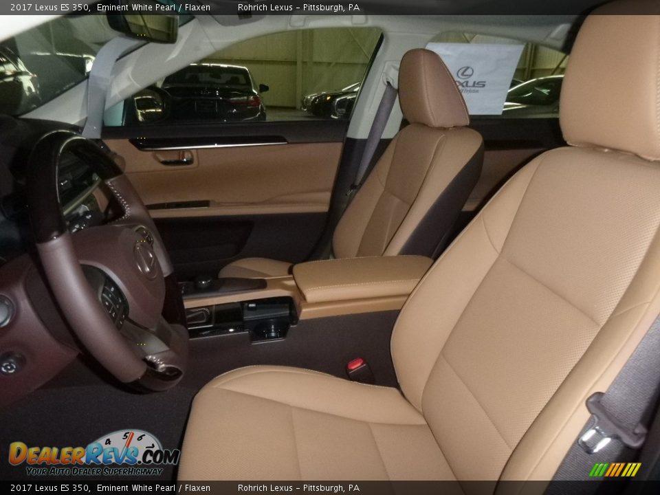 2017 Lexus ES 350 Eminent White Pearl / Flaxen Photo #6