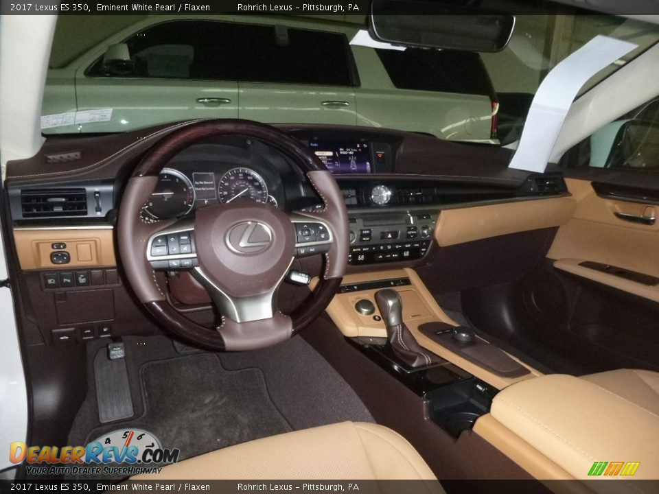 2017 Lexus ES 350 Eminent White Pearl / Flaxen Photo #8