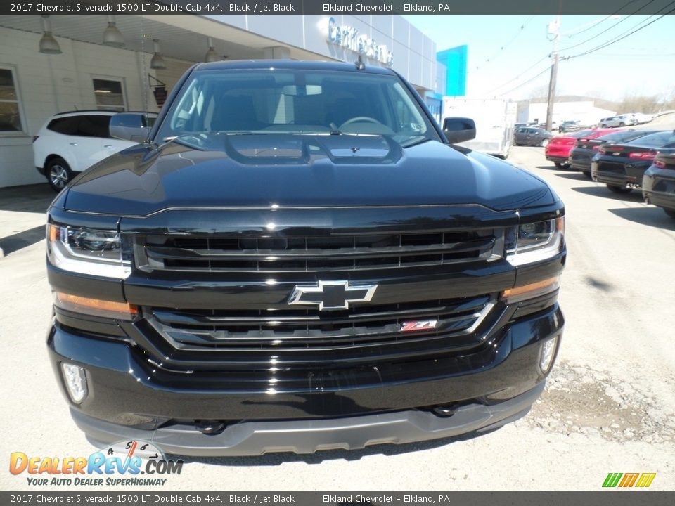 2017 Chevrolet Silverado 1500 LT Double Cab 4x4 Black / Jet Black Photo #2
