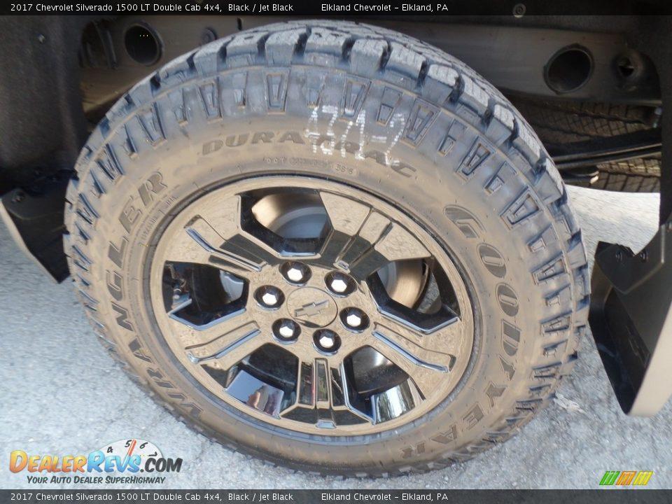 2017 Chevrolet Silverado 1500 LT Double Cab 4x4 Black / Jet Black Photo #9