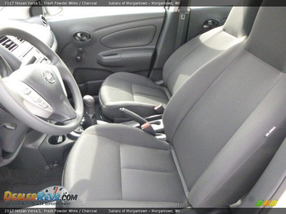2017 Nissan Versa S Fresh Powder White / Charcoal Photo #15