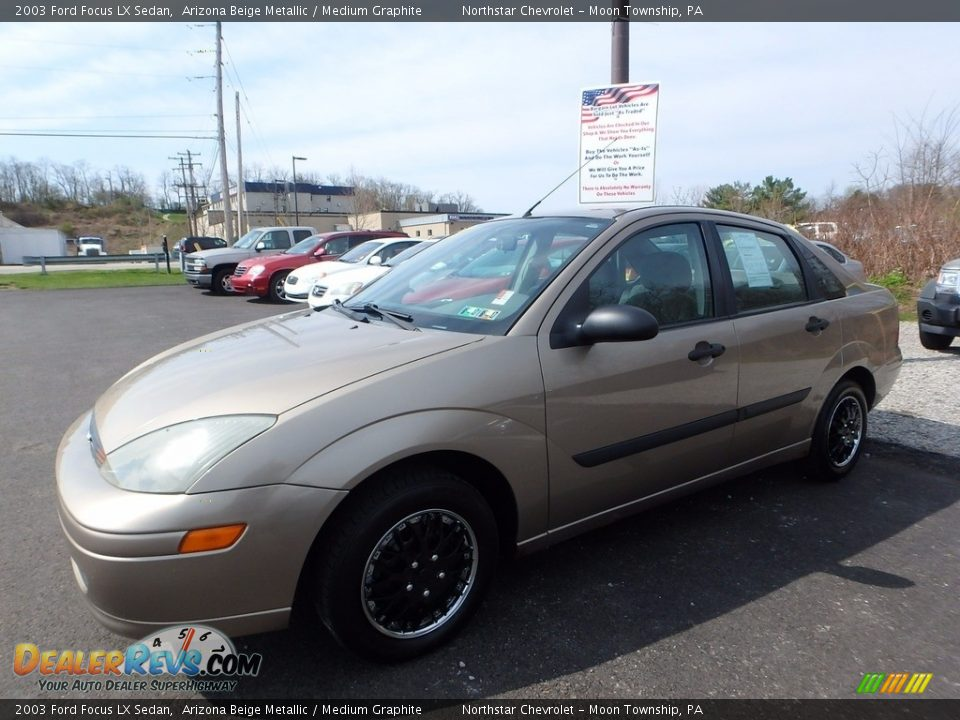 2003 Ford Focus LX Sedan Arizona Beige Metallic / Medium Graphite Photo #1