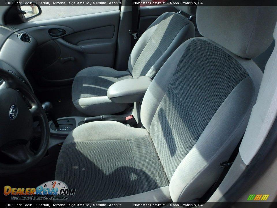 2003 Ford Focus LX Sedan Arizona Beige Metallic / Medium Graphite Photo #8