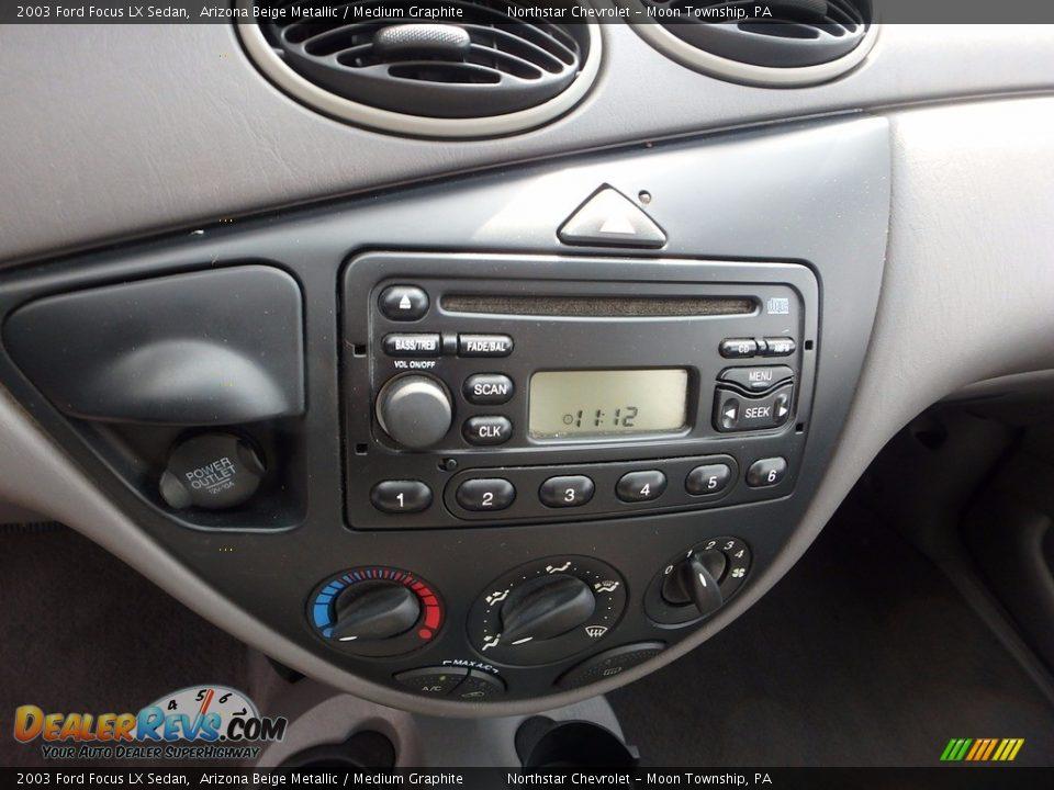 2003 Ford Focus LX Sedan Arizona Beige Metallic / Medium Graphite Photo #13