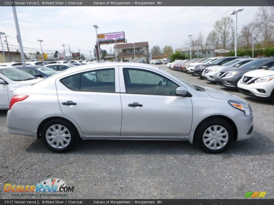 2017 Nissan Versa S Brilliant Silver / Charcoal Photo #8