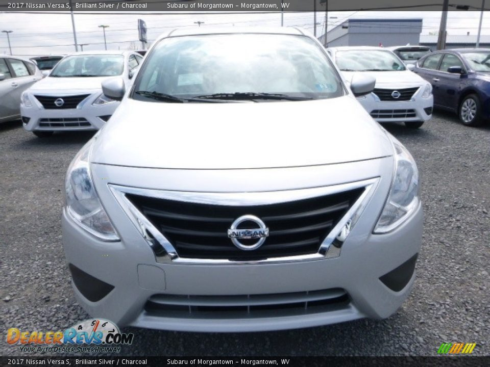 2017 Nissan Versa S Brilliant Silver / Charcoal Photo #14