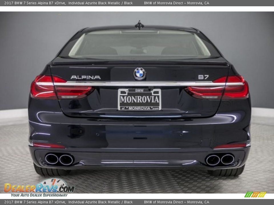 2017 BMW 7 Series Alpina B7 xDrive Individual Azurite Black Metallic / Black Photo #4
