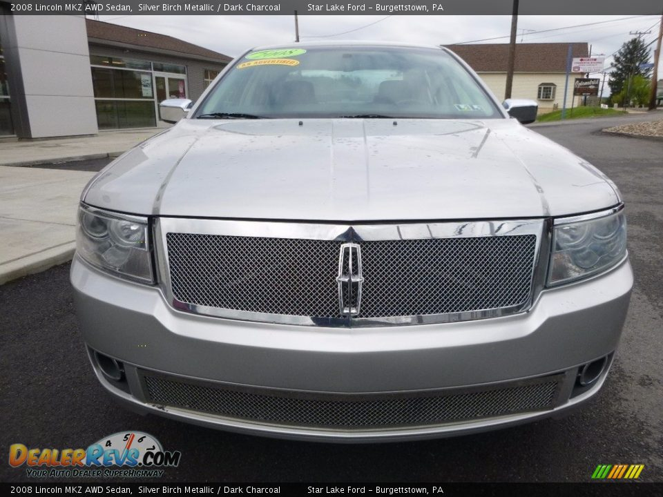 2008 Lincoln MKZ AWD Sedan Silver Birch Metallic / Dark Charcoal Photo #2
