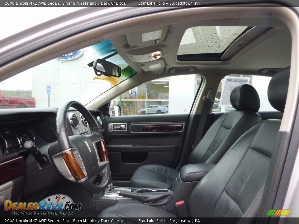2008 Lincoln MKZ AWD Sedan Silver Birch Metallic / Dark Charcoal Photo #9