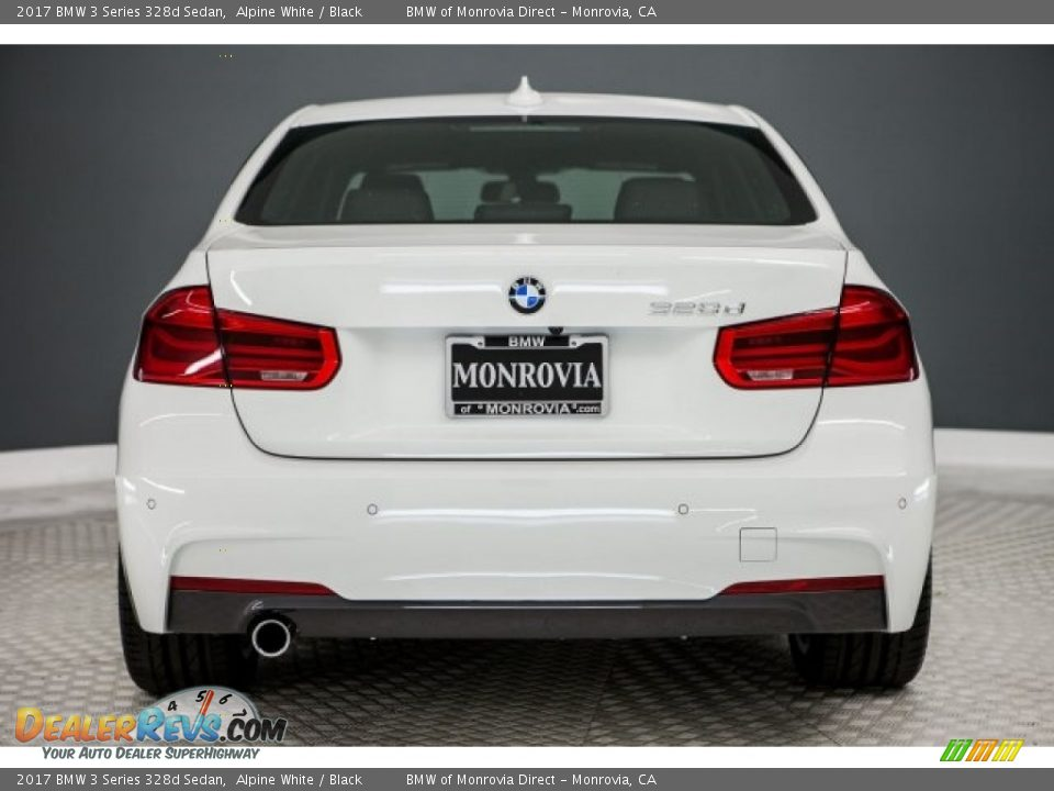 2017 BMW 3 Series 328d Sedan Alpine White / Black Photo #4