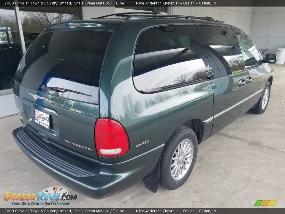 2000 Chrysler Town & Country Limited Shale Green Metallic / Taupe Photo #3