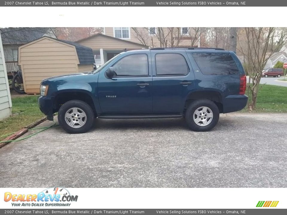 2007 Chevrolet Tahoe LS Bermuda Blue Metallic / Dark Titanium/Light Titanium Photo #1
