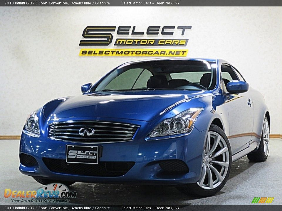 2010 Infiniti G 37 S Sport Convertible Athens Blue / Graphite Photo #1
