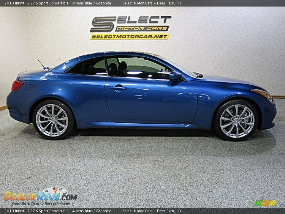 2010 Infiniti G 37 S Sport Convertible Athens Blue / Graphite Photo #4
