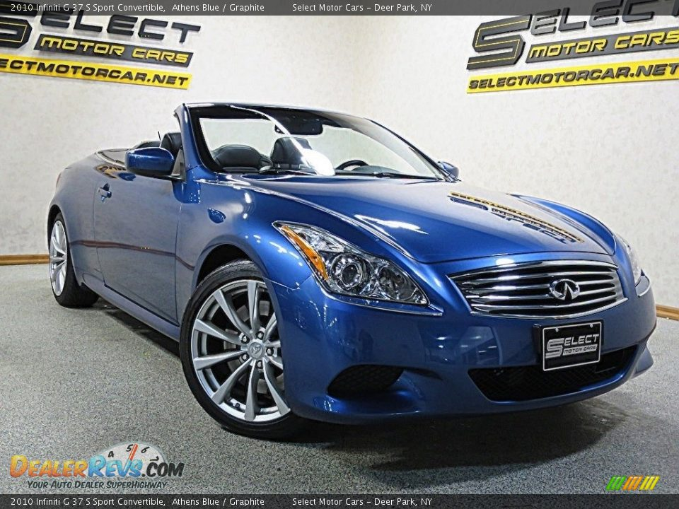 2010 Infiniti G 37 S Sport Convertible Athens Blue / Graphite Photo #6