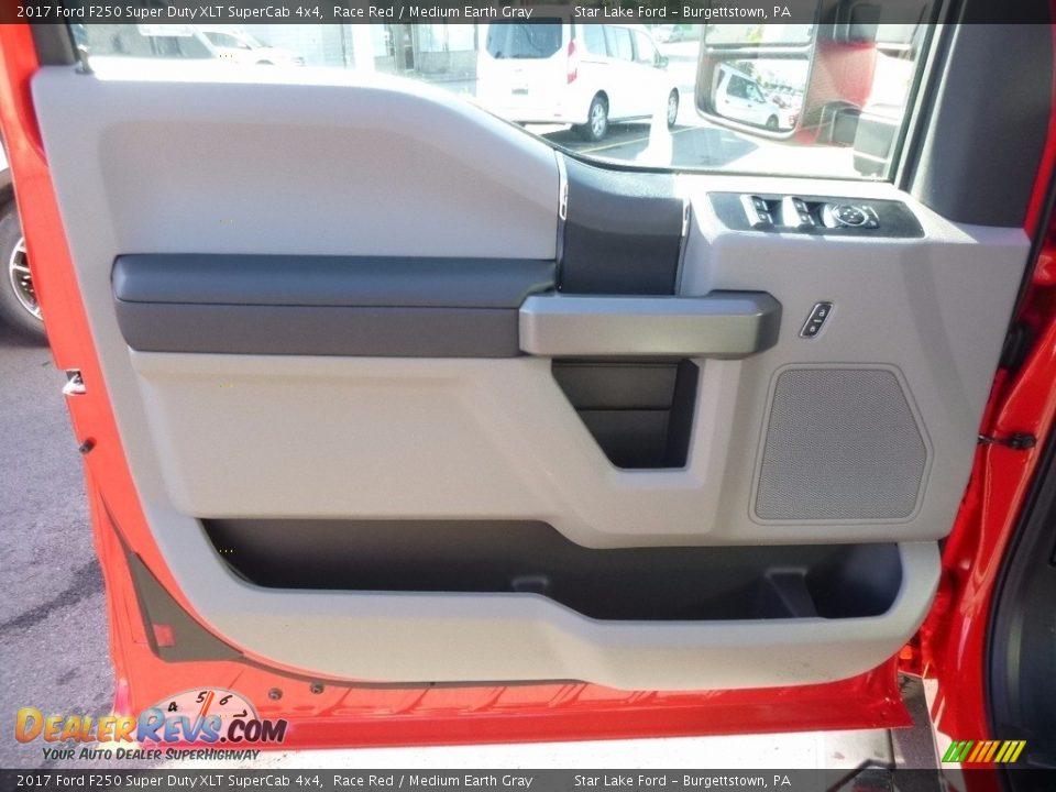 2017 Ford F250 Super Duty XLT SuperCab 4x4 Race Red / Medium Earth Gray Photo #13
