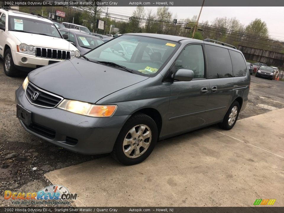 2002 Honda Odyssey EX-L Starlight Silver Metallic / Quartz Gray Photo #1