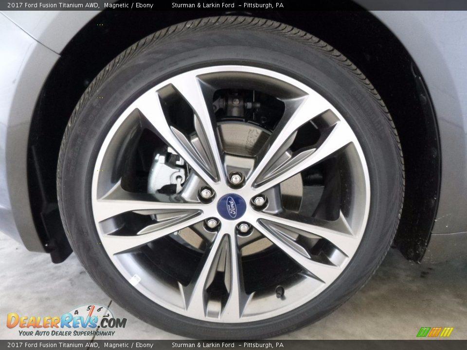 2017 Ford Fusion Titanium AWD Magnetic / Ebony Photo #6