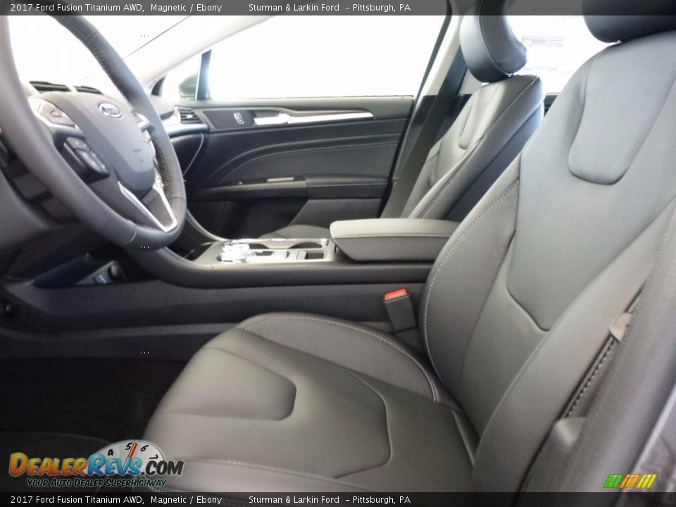 2017 Ford Fusion Titanium AWD Magnetic / Ebony Photo #7
