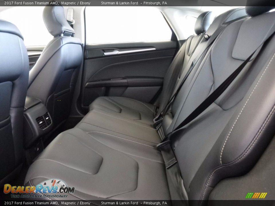 2017 Ford Fusion Titanium AWD Magnetic / Ebony Photo #8