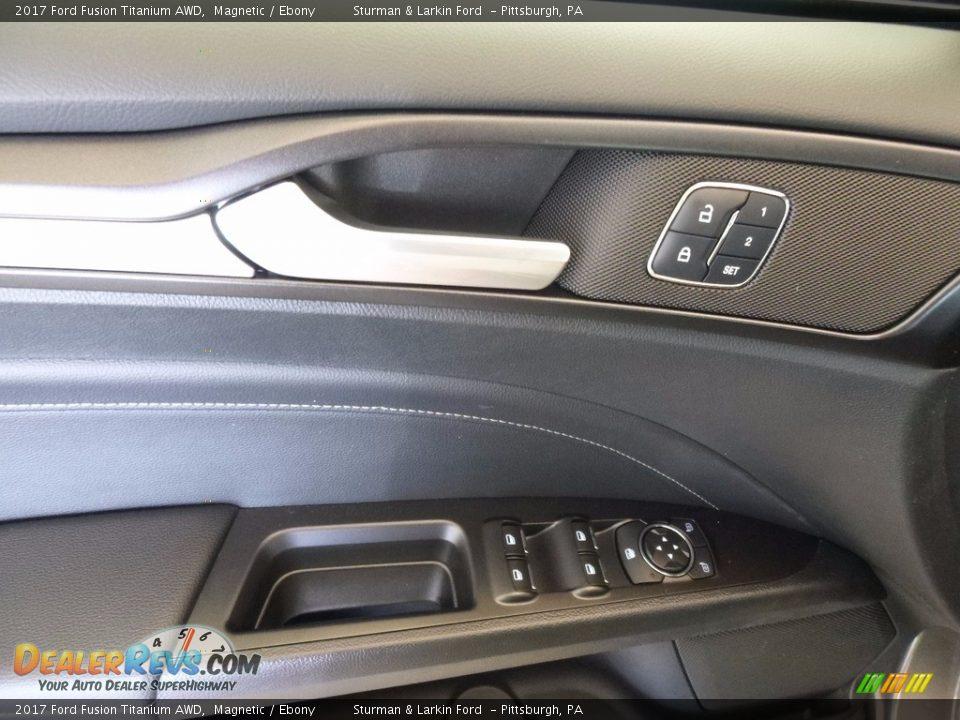 2017 Ford Fusion Titanium AWD Magnetic / Ebony Photo #10