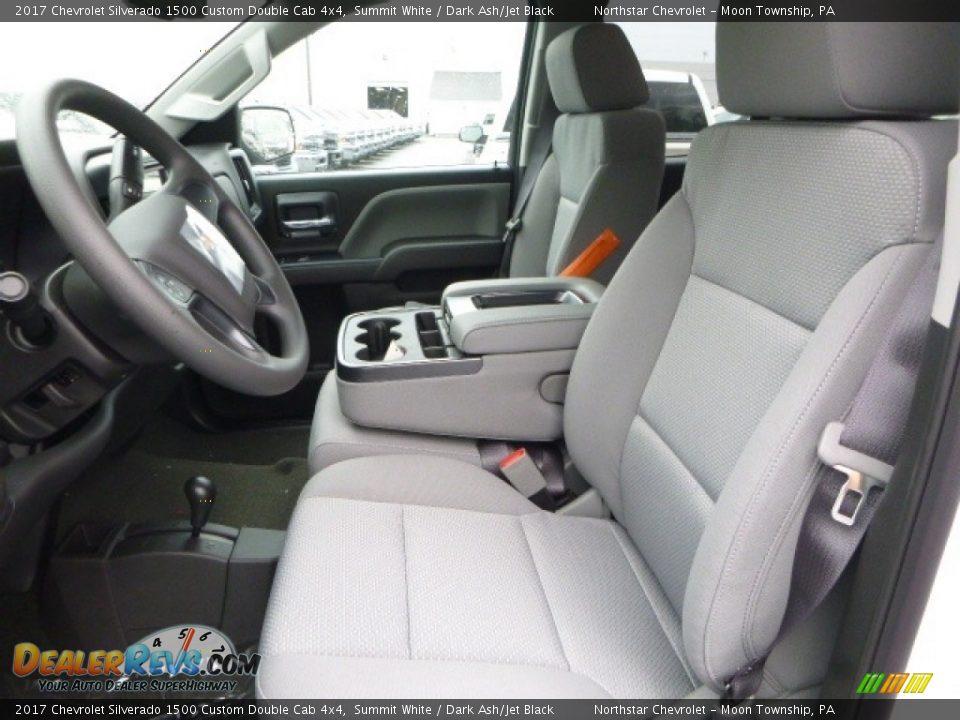 2017 Chevrolet Silverado 1500 Custom Double Cab 4x4 Summit White / Dark Ash/Jet Black Photo #15