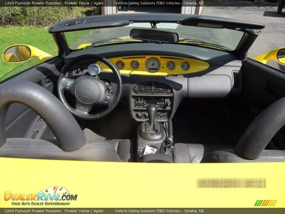 1999 Plymouth Prowler Roadster Prowler Yellow / Agate Photo #4