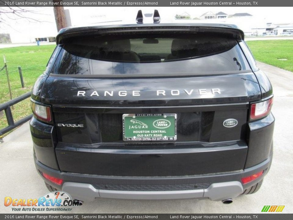 2016 Land Rover Range Rover Evoque SE Santorini Black Metalllic / Espresso/Almond Photo #8